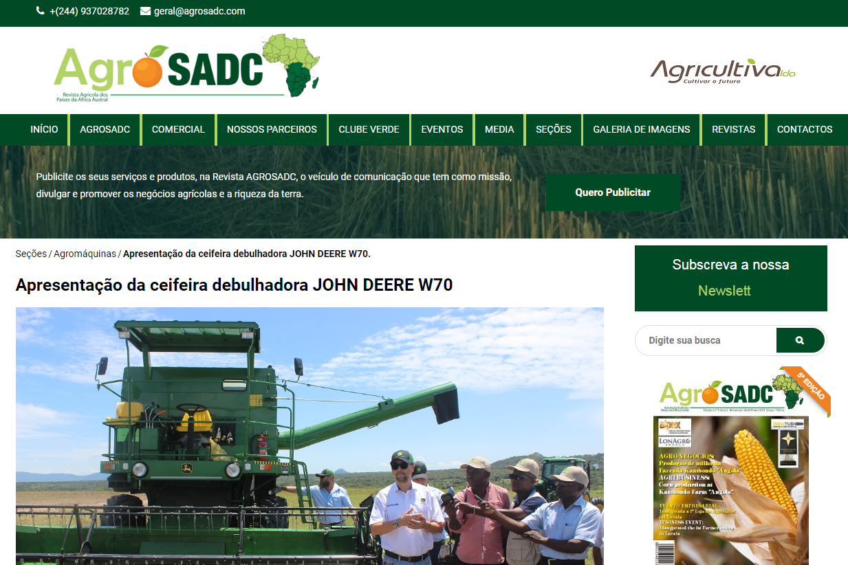 AgroSADC Launches Website with Coverage of LonAgro Angola